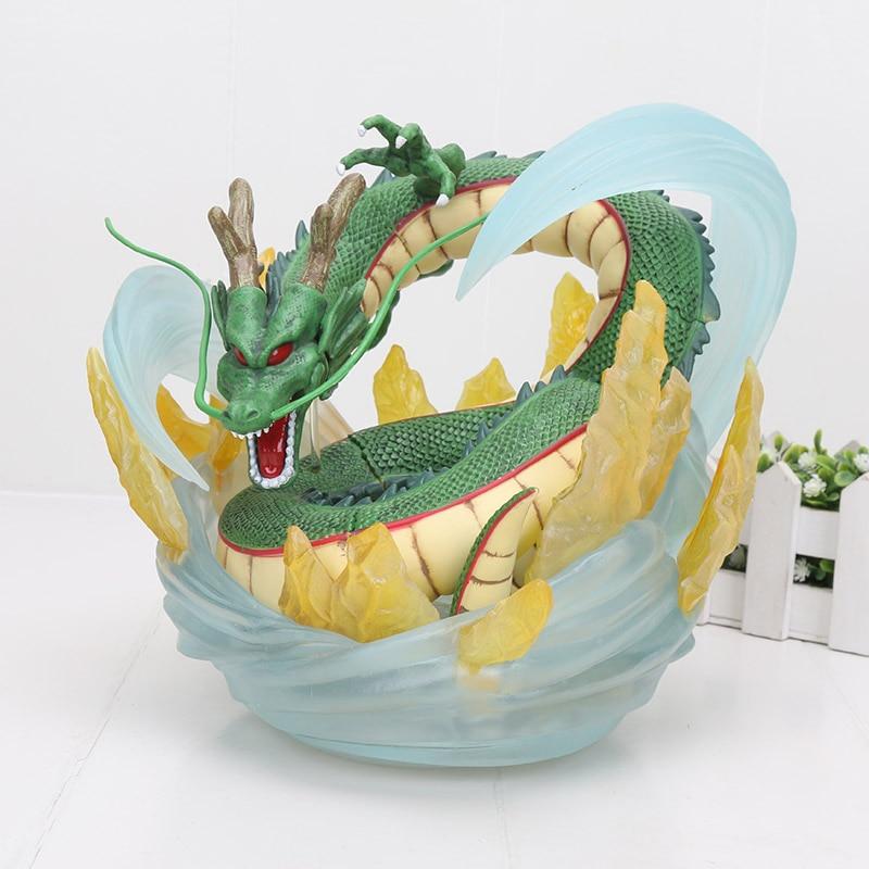 Grande taille 21 cm Dragon Ball Z ShenRon ShenLong 7 cm boules de cristal avec étagère PVC Action Figure jouet Dragon Ball Action figure
