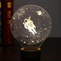 2017 Carving 3D LED Moon Lamp Night Lights USB Christmas Lights Atmosphere Desk Lamps Earth Astronaut