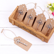 60pcs Opener+60pcs Tags Beer Bottle Opener with Key Shape Party Wedding Favors Special Gift Supplies Tool