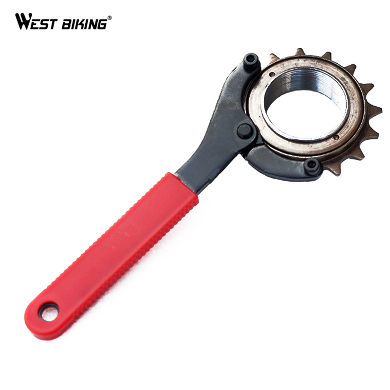 WEST BIKING Bike Bicycle Repair Tool Sproket Chain Bracket Wrench Bicycling For Cycling Remover Tool Sprocket Chain Whip
