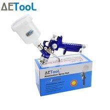 AETool Mini pistola rociadora HVLP con boquilla de 0,8/1,0mm, pistola rociadora profesional, aerógrafo para pintar coches