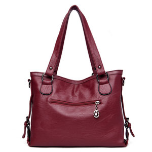 Image 5 - Women PU Leather Handbags Designer Soft Shoulder Bags For Women Messenger Bags Crossbody BagsTop Handle Bags Bolsa 3098