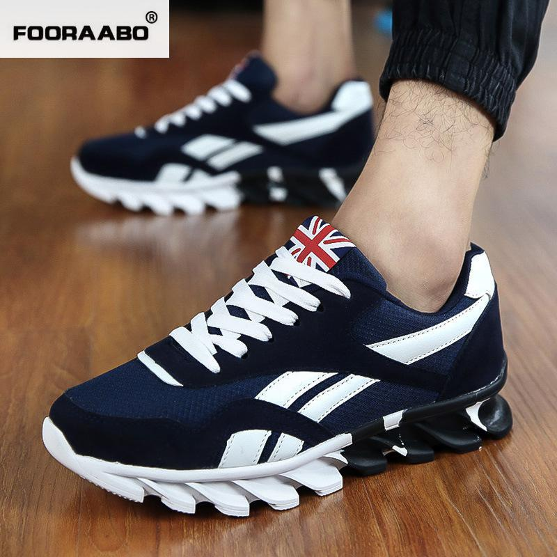 2017 Spring Blade Casual Shoes Outdoor Trainers Walking Shoes font b Men b font Black Red