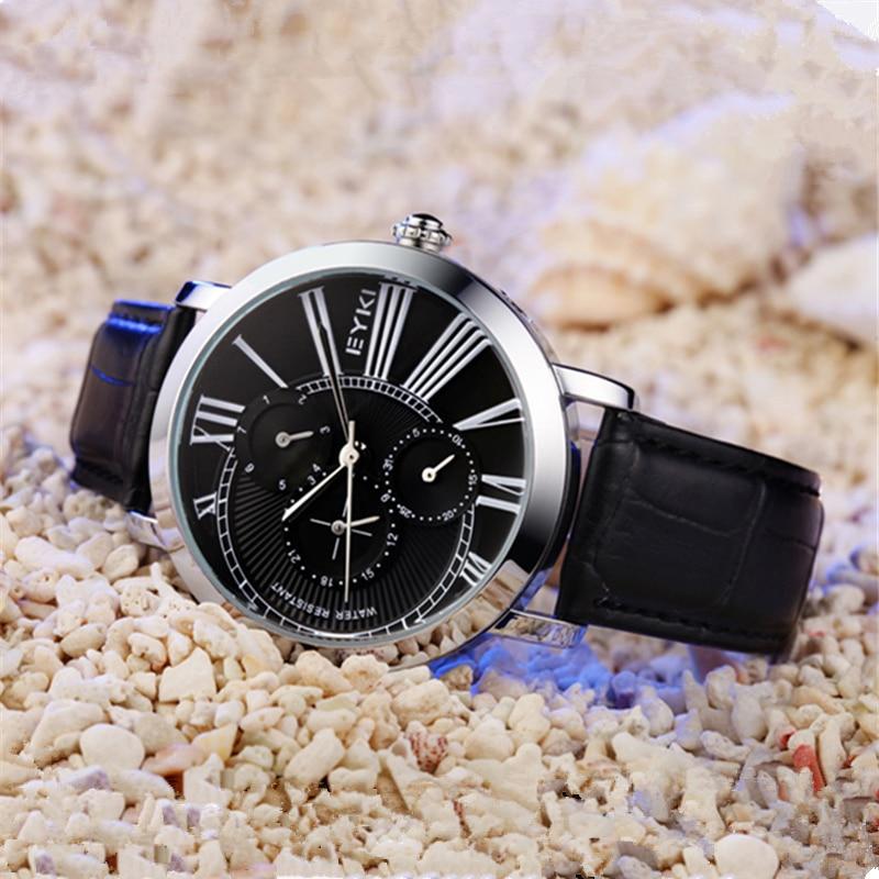 где купить Vintage Watch Men Watches Water Resistant Luminous Genuine Leather Strap Rose Gold Silver Case Roman Numeral Wristwatch relojes по лучшей цене