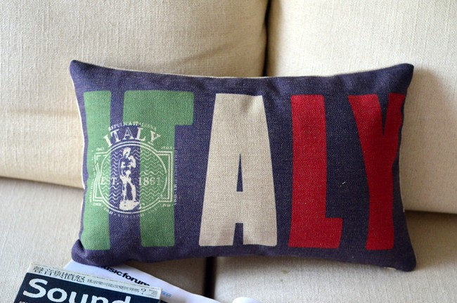 <font><b>Italian</b></font> national flag pillow covers chair cushions shabby chic No Inner