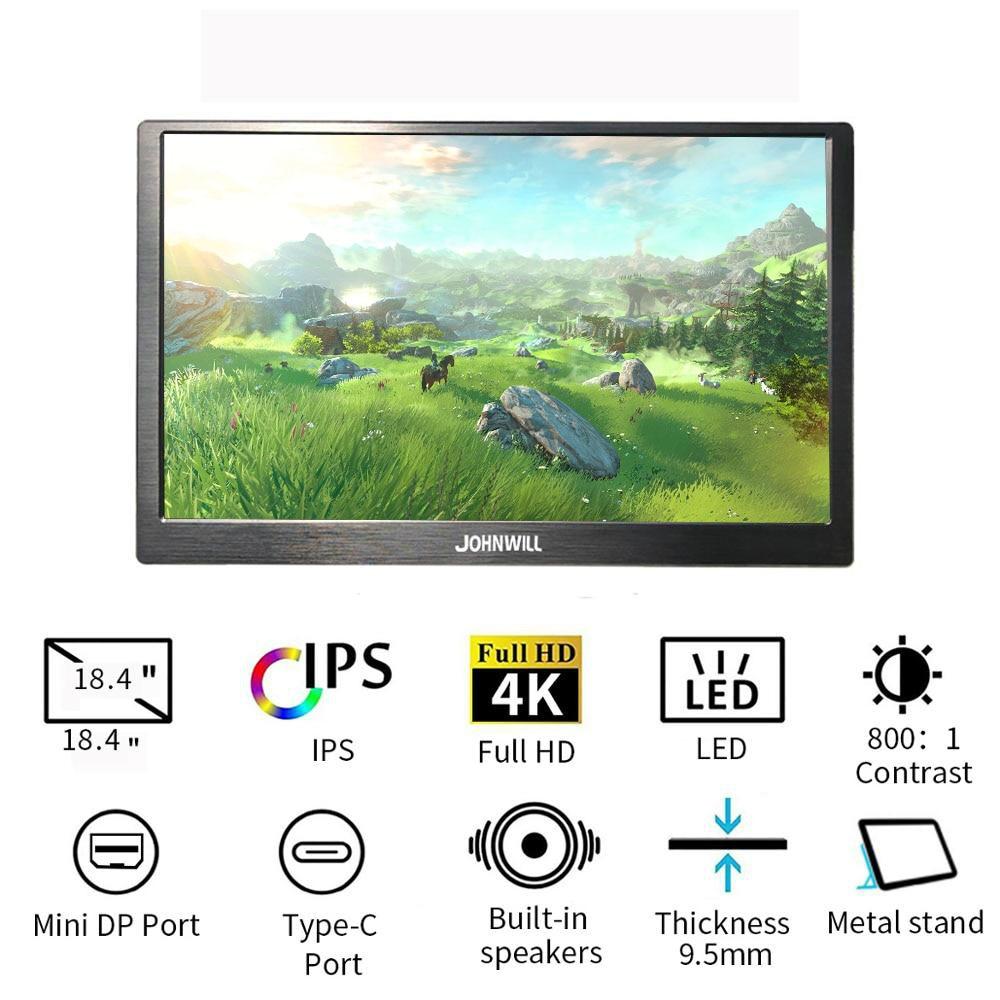 Neue 18,4 zoll Full HD Typ-C 4K 3840x2160 Tragbaren Display 17,3/15,6/13,3 für Raspberry pi Schalter PS3 Xbox Computer LCD Monitor