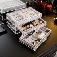 ANFEI Jewelry Storage Box With Jewelry Tray Inside Large Makeup Organizer Can Put Jewelry Ring Necklace Jewelry Box 3ZH69