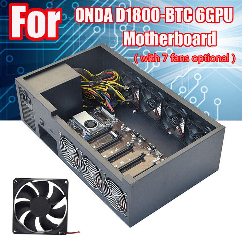 6GPU Crypto Coin Open Air Mining Server Frame Rig Graphics Case /with 7 Fans Optional Computer Mining Case Frame Server Chassis 1stplayer md8 mining case 8 gpu crypto coin open air mining frame rig graphics case support 4 fans for onda d3 motherboard