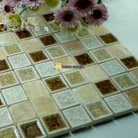 ceramic mixed stone mosaic tiles EHGM1040 for swimming pool bathroom shower wall mosaic tiles kitchen backsplash free shipping