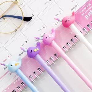 Image 5 - En gros 60 pièces kawaii gel encre stylo mignon cheval baleine stylos pour lécole fournitures de bureau étudiants coréen papeterie cadeau articles en vrac