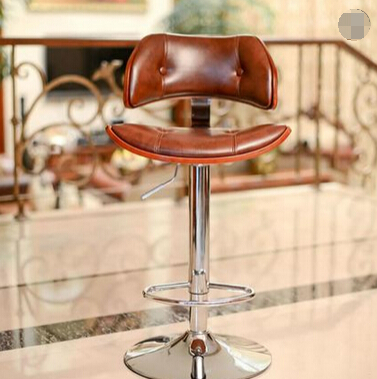 Wood Bar Stool Rotating European Retro Fashion Minimalist Bar Stool Bar Stool Chair