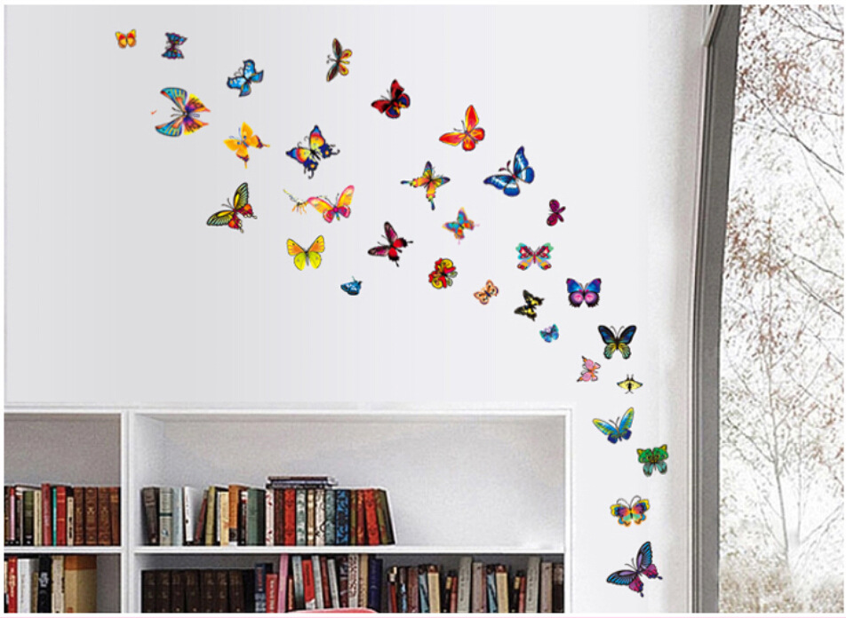 Buy Large Colourful Butterflies Flowers