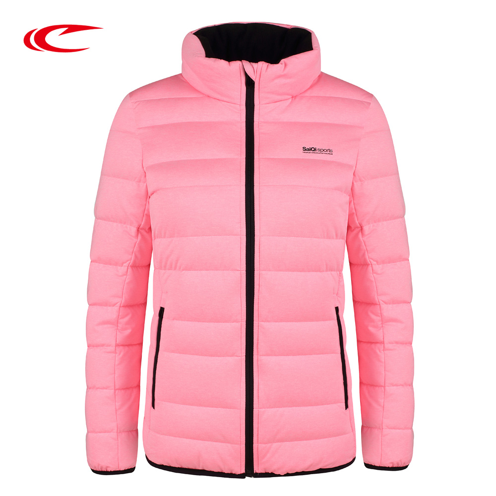 SAIQI 2017 New Winter Warm Light Down Women Ultra Light 80% White Duck Down Jacket Short Hiking Outer Coat Female Jacket 1016