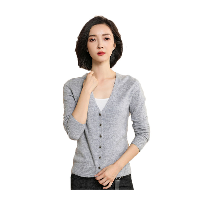 High quality spring sunmer cardigan women 2018 casual thin long sleeve tops short lady v-neck knitted sweaters cardigans A173