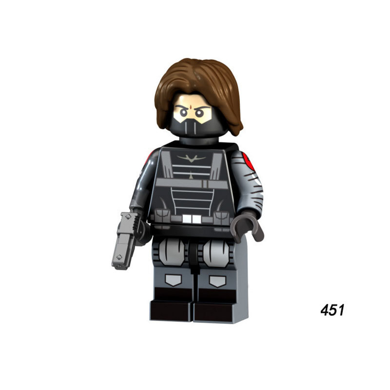 Single Sale Super Heroes Star Wars 451 Winter Soldier Mini Building Blocks Figure Bricks Toy Kids Gift Compatible Legoed Ninjaed