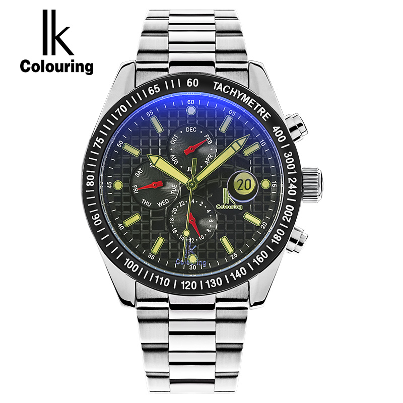 IK 2017 Mens Watches Top Brand Luxury Fashion Skeleton Clock Men Sport Watch Automatic Mechanical Watches Relogio Masculino horloges mannen qlls mens watches top brand luxury automatic mechanical watch men clock skeleton wristwatch relogio masculino