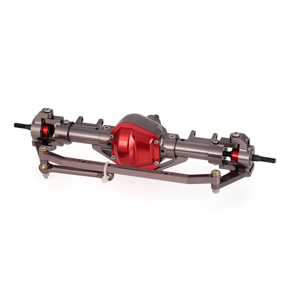 Eje delantero y trasero de Metal de aleación de aluminio CNC con engranaje de acero para coche RC 1/10 RC orugas coche AXIAL SCX10 montaje DIY de coches Honcho-in Partes y accesorios from Juguetes y pasatiempos    3