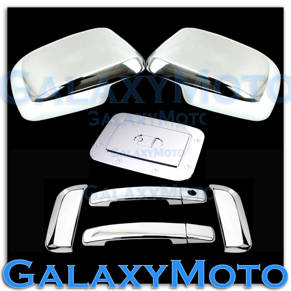 XYIVYG Chrome Mirror Cover + 4 Door Handle W/O PSG KH + GAS Cover 05-07 for Nissan PATHFINDER цена