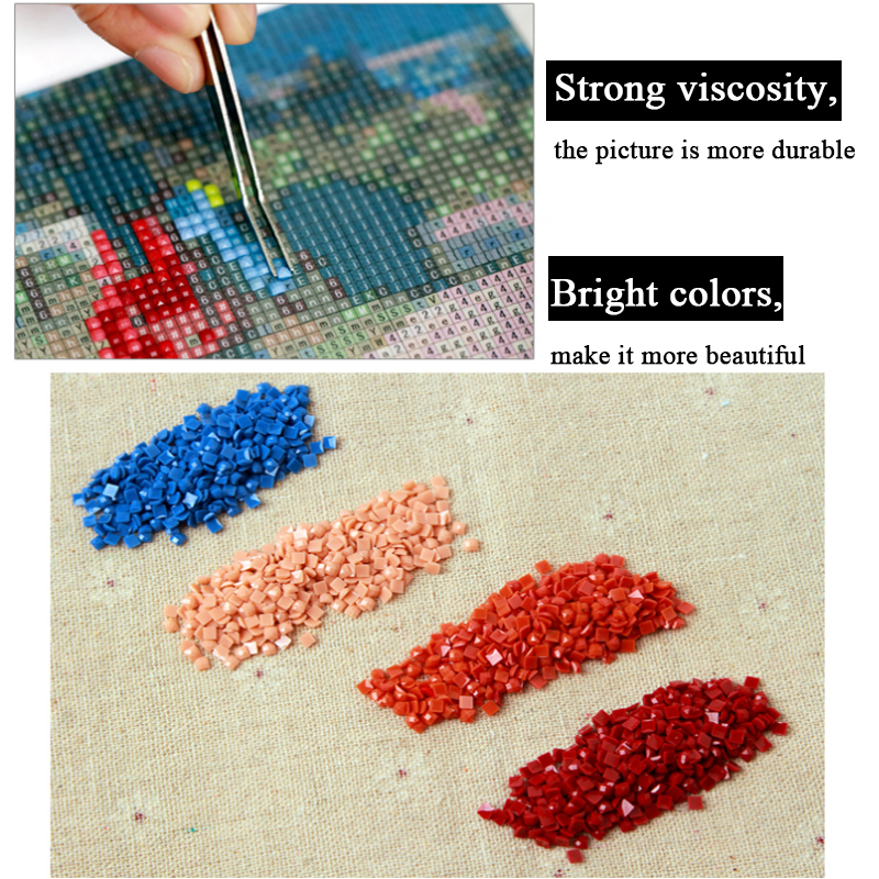 5D Diy all square diamond painting Cross stitch horse family embroidery Rhinestone Mosaic home decor gift ZX in Diamond Painting Cross Stitch from Home Garden