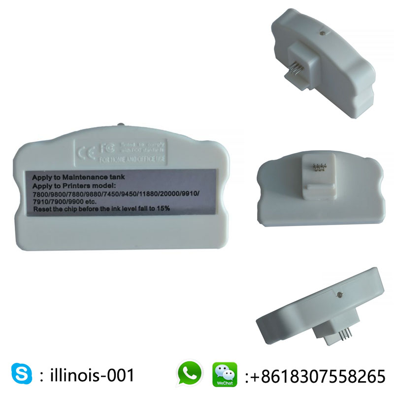 Chip Resetter for Epson Stylus Pro 7910 / 9910 Waste Ink Tank waste ink tank chip resetter for epson 9700 7700 7710 9710 printers maintenance tank chip reset