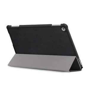 Image 3 - Capa para huawei mediapad m5 lite 10 BAH2 W19/l09, capa de 10.1 para huawei m5 lite 10 wake sleep suporte de couro flip + stylus