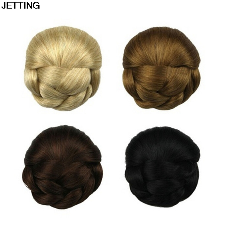1pcs Women Headwear Women Clip Big Hair Bun Hairpiece Hair Extension for Bride fashion hair fiber braided bun twisted fake chignonn hairpiece clip buns toupee for women a18