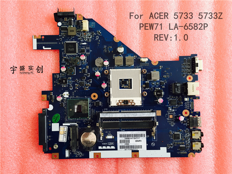 Free shipping For Acer Aspire 5733 5733Z laptop Motherboard integrated MBRJW02001 3JMFG Q5WP2 PEW71 LA 6582P