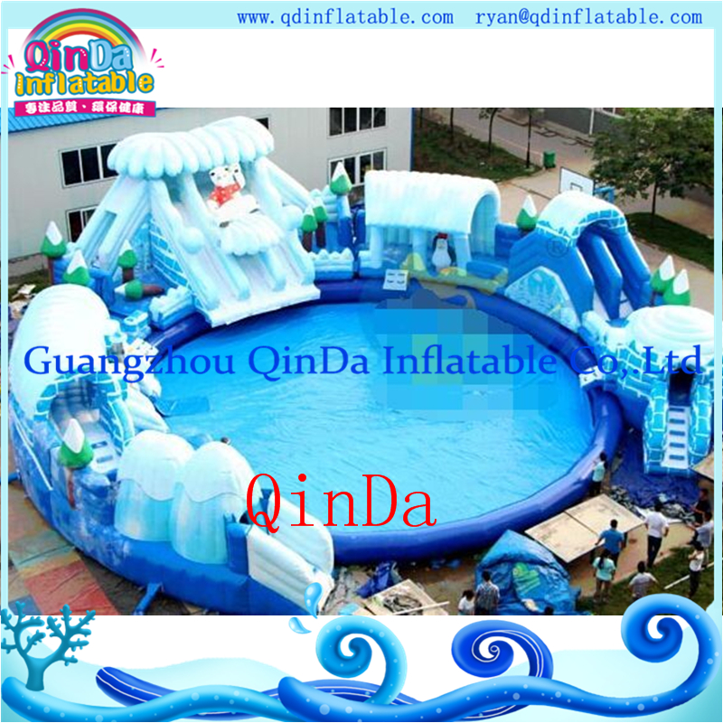 Aliexpress Com Buy Above Ground Pools Inflatable Water Slides