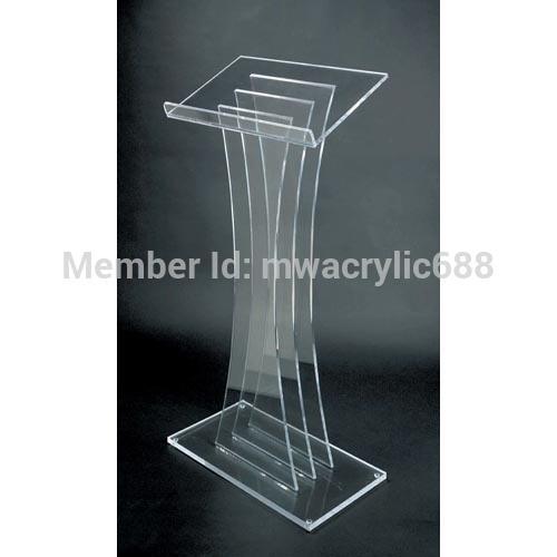 Free Shipping High Quality Fruit Setting Modern Design Acrylic Lectern Podium Stand Plexiglass