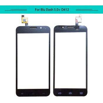 DoubleU 20pcs Touch Panel For BLU Dash 5.0+ 5.0 Plus D412 Touch Screen Glass Digitizer Sensor White Black Free Shipping