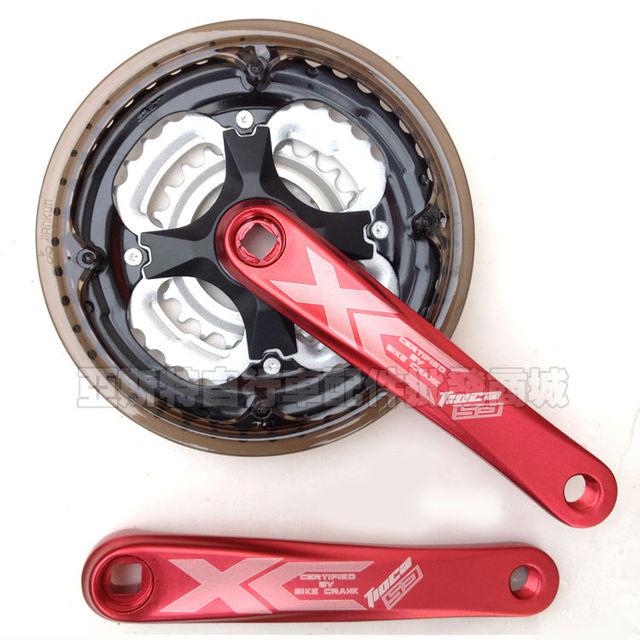 Pignon de manivelle de bicyclette dalliage daluminium de pédalier VTT. Manivelle de vélo de montagne 42 t. Disque cannelé à manivelle 7, 8, 9 vitesses