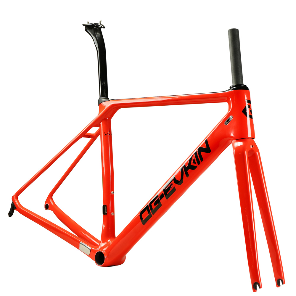 2018 OG-EVKIN DI2&Mechanical Bright Carbon Road Bike Frame XS S M L Bike Frameset BICICLETTA Ciclismo Carbon Road Bicycle Frame 2018 t800 full carbon road frame ud bb86 road frameset glossy di2 mechanical carbon frame fork seatpost xs s m l og evkin