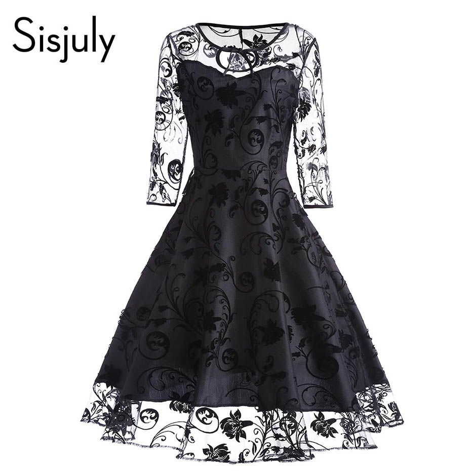 Sisjuly Women Purple Summer Lace Dress Female Short Sleeve ...