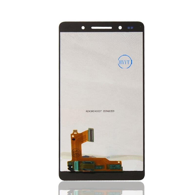 Original para huawei honor 7 lcd y montaje de la pantalla táctil de reparación de piezas para honor 7 teléfono envío libre + número de seguimiento + herramientas