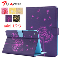 TopArmor Mini 3 Dandelion Print Stand Case Card Slot Holder Buckle Protective Shell Cover For Apple