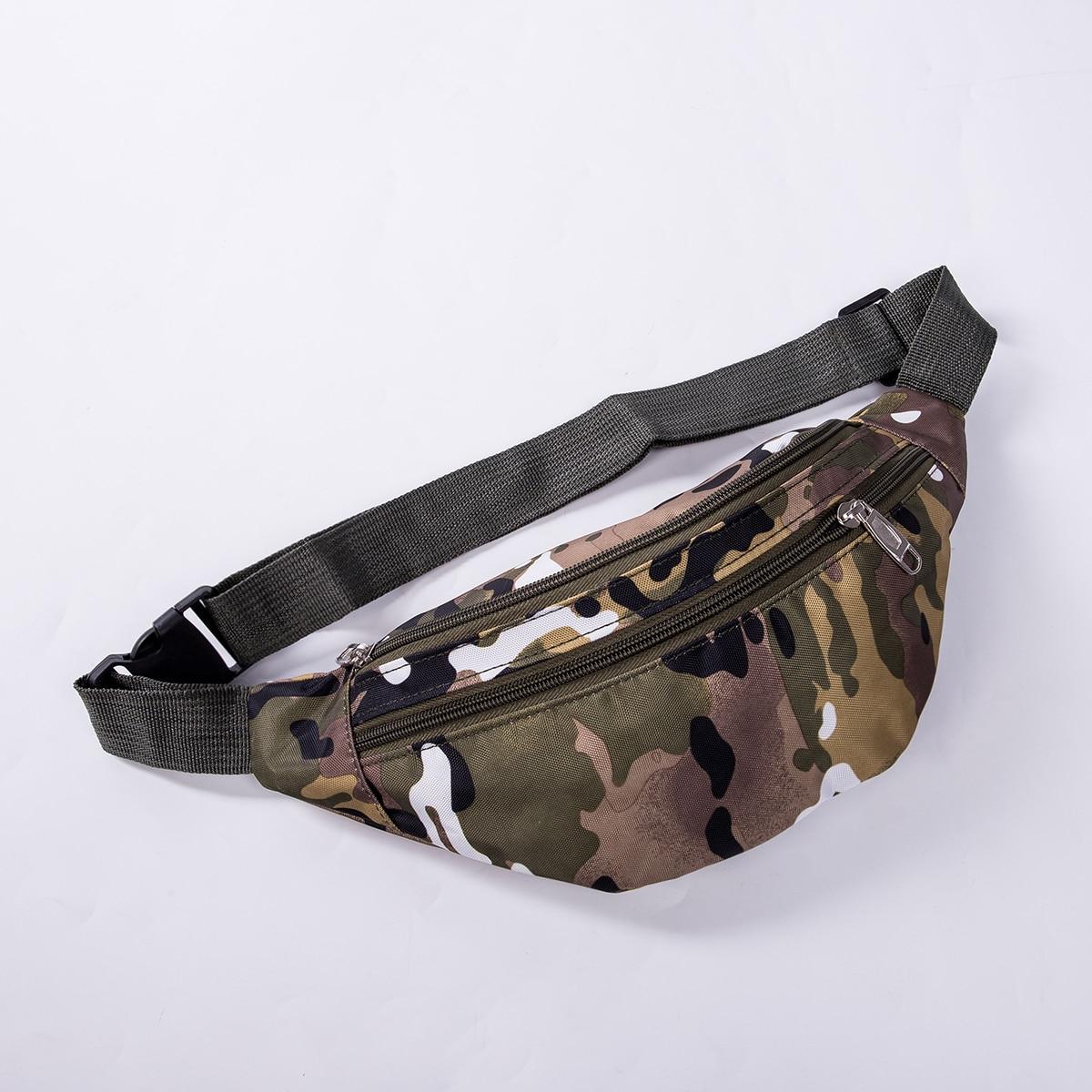 2019 Newest Hot Travel BUM BAG Bumbag Waist Money Belt Passport Wallet Zipped Security Pouch Camouflage Waist Packs