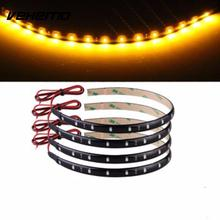 Vehemo 30CM 3528 LEDS Waterproof Car Auto Motor Trucks Flexible  Decorations Strip yellow Glow Bright Light