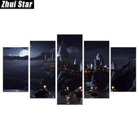 Zhui Star 5D DIY Full Square Diamond Painting Castle Multi Picture Combination Embroidery Cross Stitch Mosaic