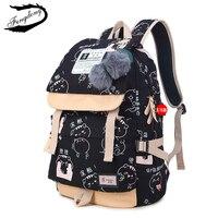 2018 female fashion school backpack usb school bags for girls black backpack plusch ball girl schoolbag butterfly decoration