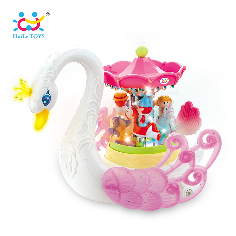 HUILE TOYS 536 Baby Toys Fantastic Swan Musical Toy with Light Electronic Learning Educational Toys for Children Girls Gifts