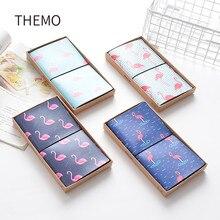 Японський Kawaii Cute Flamingo Cartoon DIY Notebook PU Leather Bound Travel Журнал Щоденник Подорож Notebook Agenda Креативні подарунки