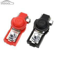 1 Pair 12V Universal Adjustable Auto Car Battery Terminal Clamp Positive Negative Clips Connector for Automobiles Boat Truck