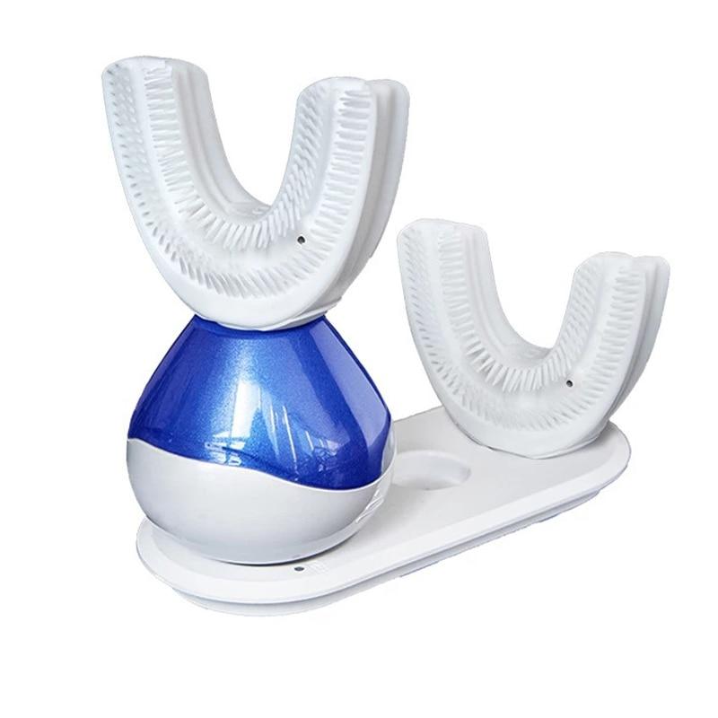 Rechargeable 360 degrés automatique Smart paresseux brosse à dents électrique rapide nettoyage sonique blanchiment brosse à dents avec brosse à dents Liqu