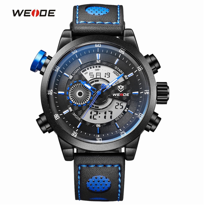 WEIDE Mens Sports Watches Quartz Digital Multifunctional Wristwatches Waterproof Military Casual Watch For Men Relogio Masculino weide new men quartz casual watch army military sports watch waterproof back light men watches alarm clock multiple time zone