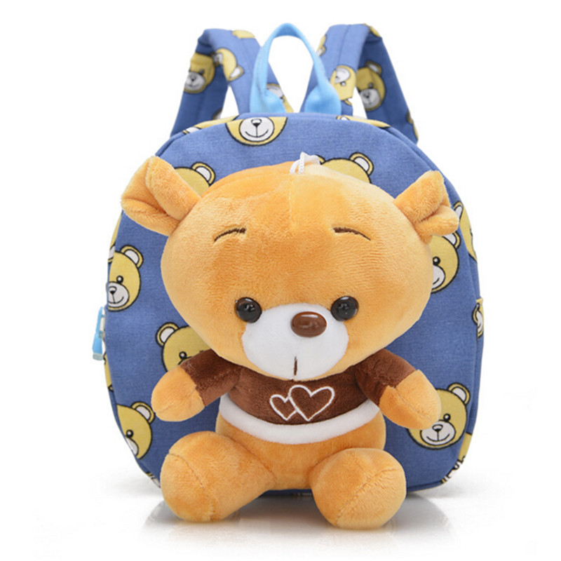 1pcs Doll 2017 New Children's  Hot Backpack  Cartoon Bear  Detachable  With