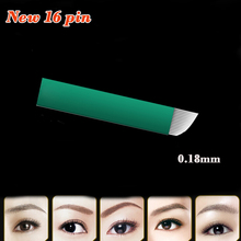 0.18mm 16 Pin Needle Microblading Blades Aguja Agulha Tebori Microblading 16 Flex For Tatto Eyebrow Makeup