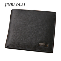 New 2015 Euro Genuine Leather Men Wallets Famous Brand Men Wallet Male Black Coin Purse ID