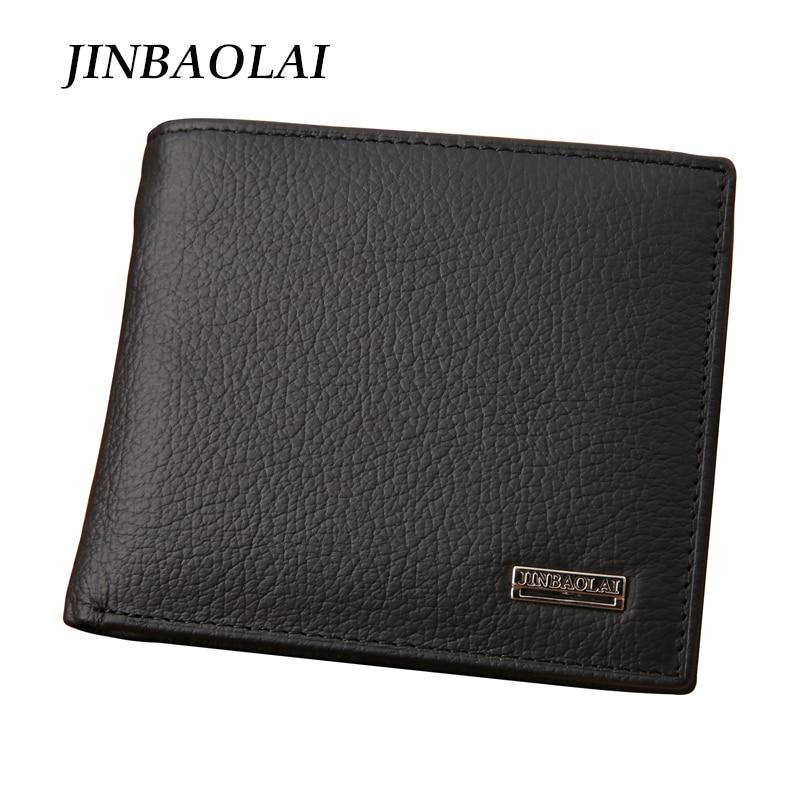 2017 NEW Designe euro genuine leather men wallets famous brand men wallet male black coin purse ID card dollar bill wallet