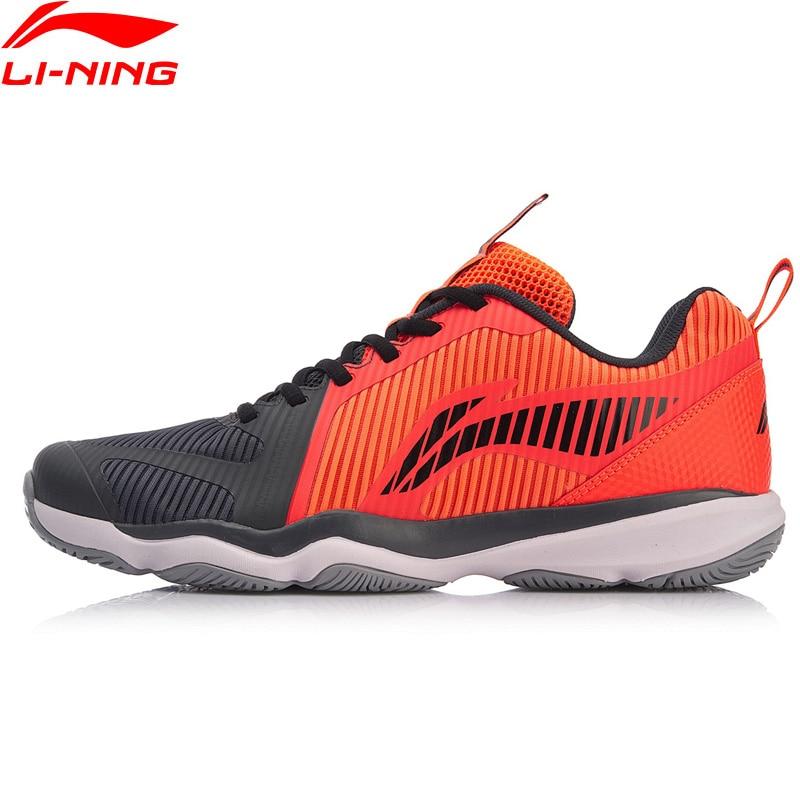 Li Ning Men RANGER TD 3 Badminton Training Shoes Wearable Hit Color LiNing Fitness Sport Shoes