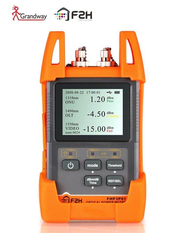 [ Grandway Original ]  F2H FHP3P01 EPON GPON xPON Optical Power Meter OPM FTTx OLT-ONU 1310/1490/1550nm[ Grandway Original ]  F2H FHP3P01 EPON GPON xPON Optical Power Meter OPM FTTx OLT-ONU 1310/1490/1550nm